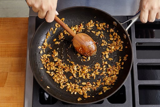 Make the spicy seeds & serve your dish