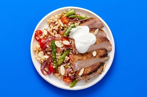 Finish & Serve the Dukkah Pork & Couscous
