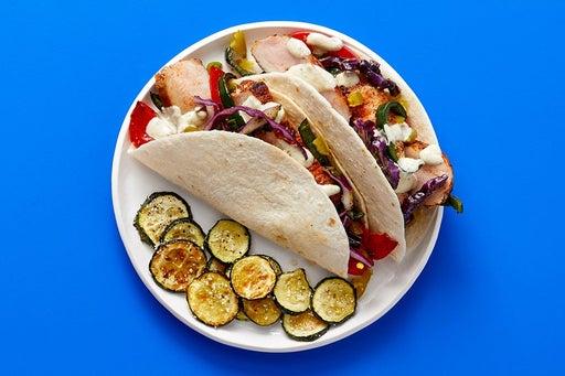 Finish & Serve the Pork & Cilantro Cabbage Tacos