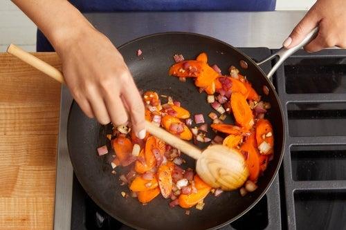 Cook the carrots & finish the farro