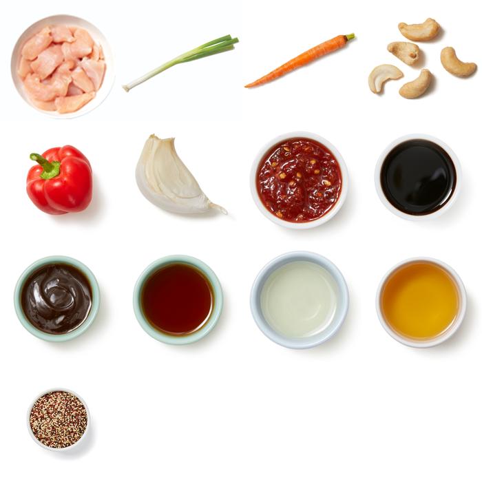 Cashew Chicken Stir-Fry with Vegetables & Quinoa