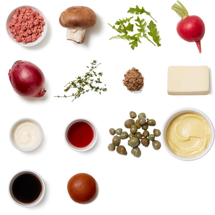 Father's Day Truffle & Fontina Burgers with Sautéed Mushrooms & Arugula Salad