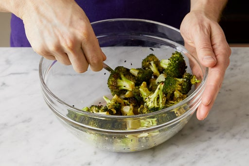Dress the broccoli: