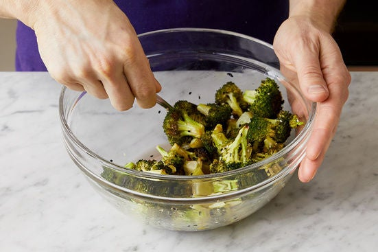 Dress the broccoli:
