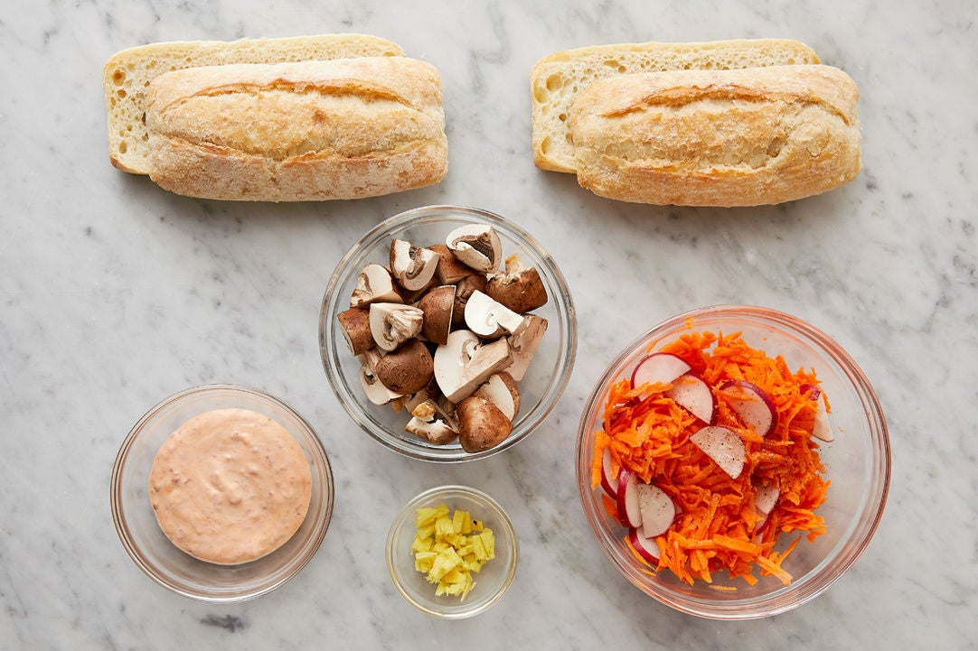 Prepare the remaining ingredients & marinate the vegetables: