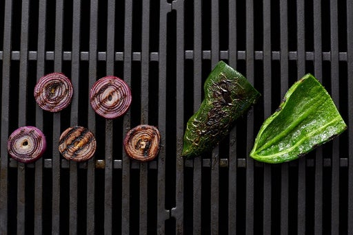 Grill & cut the vegetables
