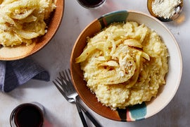 Saffron Risotto with Orange-Glazed Fennel