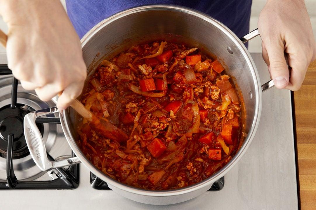 Finish the chili & serve your dish: