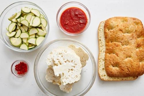 Prepare the ingredients & season the tomato sauce