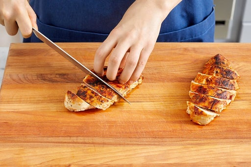 Slice the chicken & serve your dish