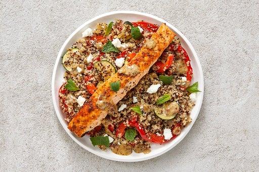 Finish & Serve the Roasted Salmon & Quinoa