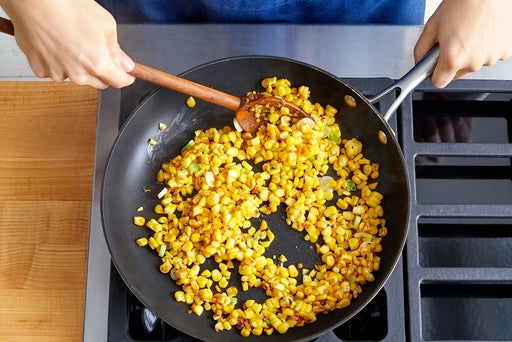 Cook the corn & finish the salsa