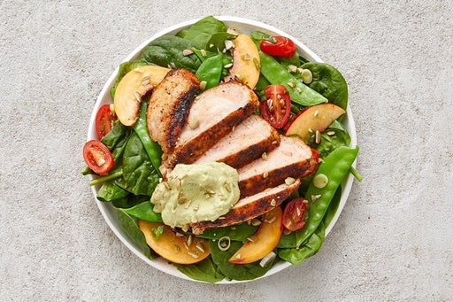Finish & Serve the Mexican Pork & Spinach Salad