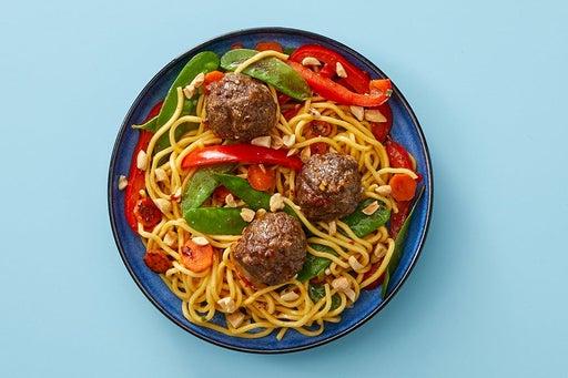 Finish & Serve the Soy-Sambal Meatballs