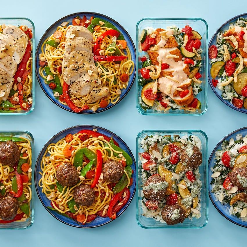 Chicken & Beef Meatballs Meal Prep Bundle