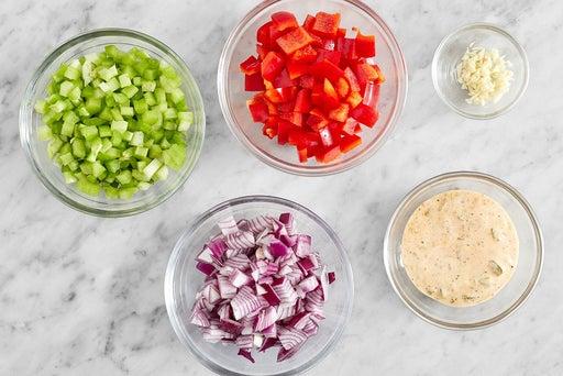 Prepare the ingredients & make the creamy relish