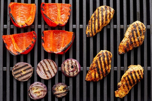 Grill the chicken & vegetables