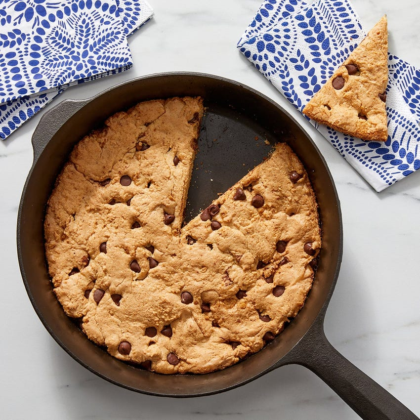 Brown Butter Skillet Cookie with Chocolate Chips