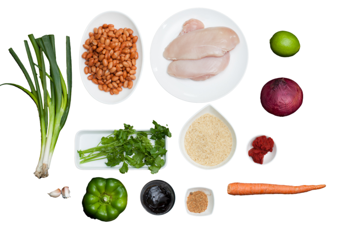 Jerk-Spiced Chicken  with Rice & Beans ingredients