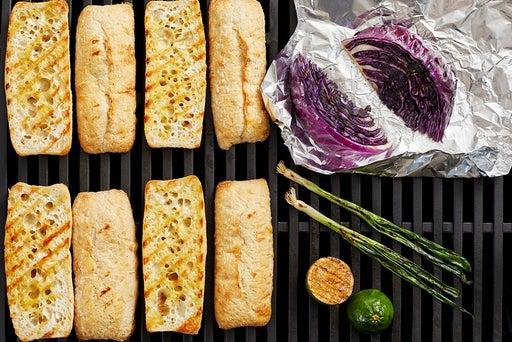 Grill the vegetables & baguette