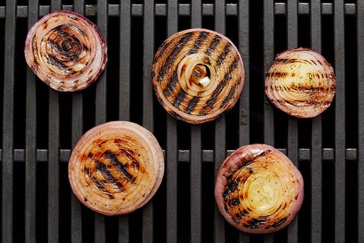 Grill & chop the onion