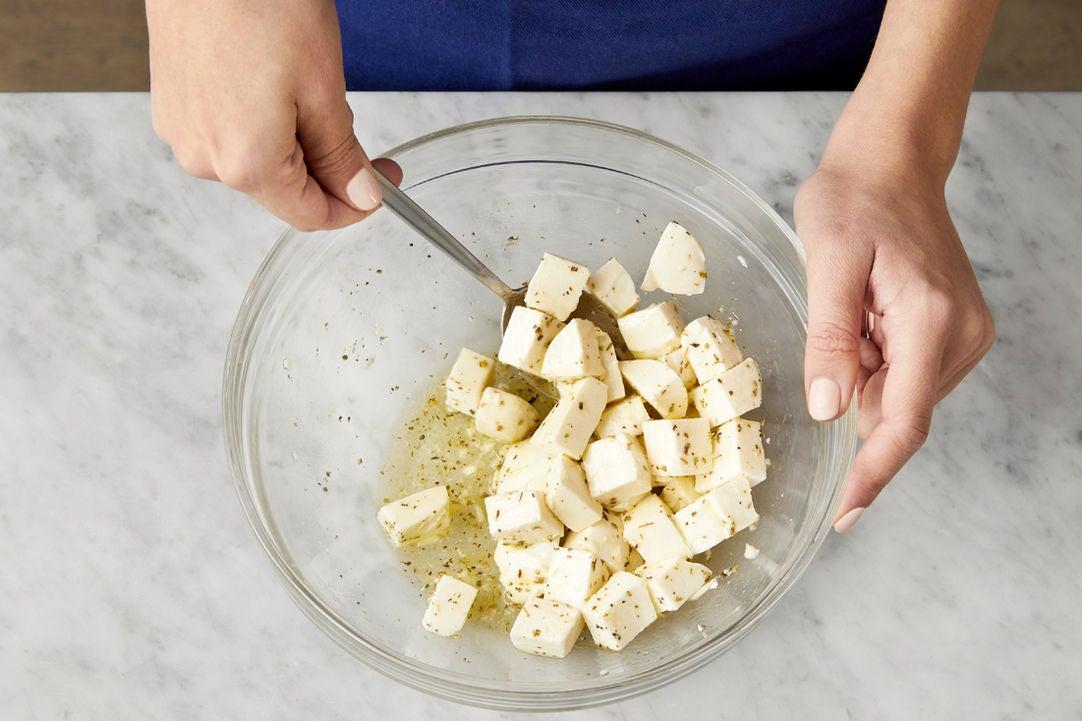 Marinate the mozzarella: