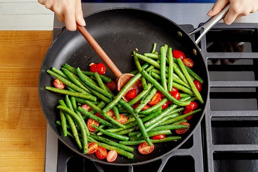 Prepare & cook the vegetables