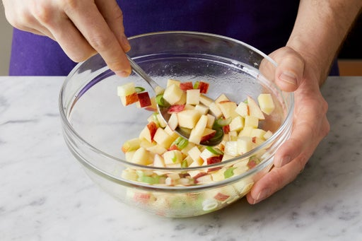 Marinate the apple: