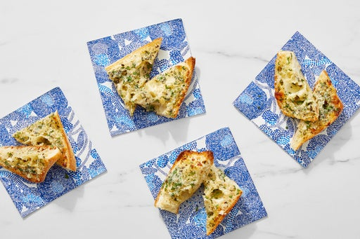 Garlic Herb Bread with Parmesan Cheese