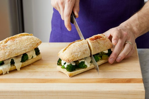 Finish the sandwiches & serve your dish: