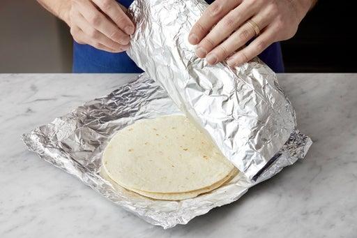 Warm the tortillas: