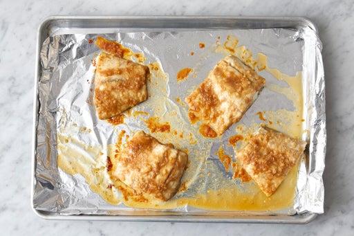 Glaze & bake the fish: