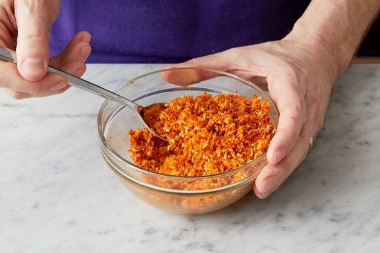 Make the parmesan-breadcrumb topping: