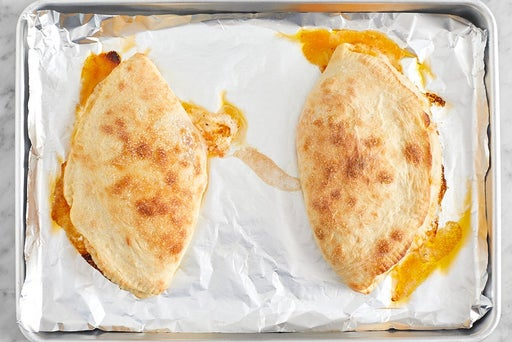 Bake the calzones & serve your dish