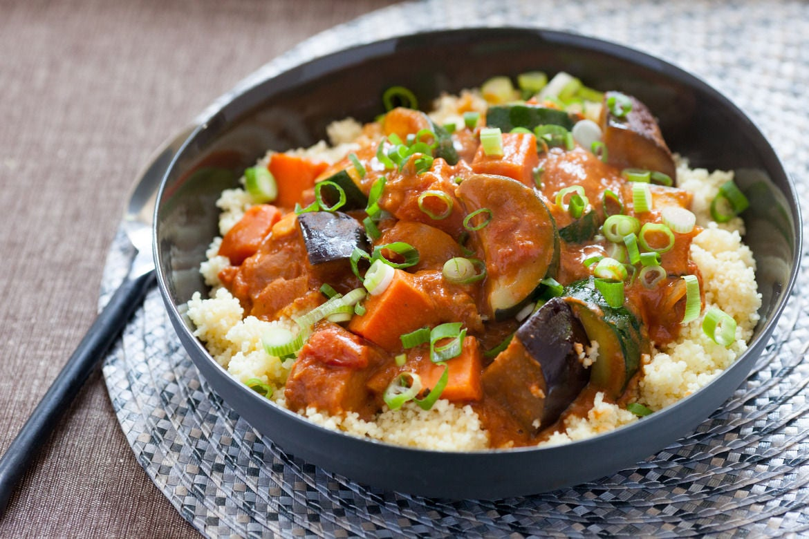 Recipe: West African Vegetable & Peanut Stew over Couscous ...