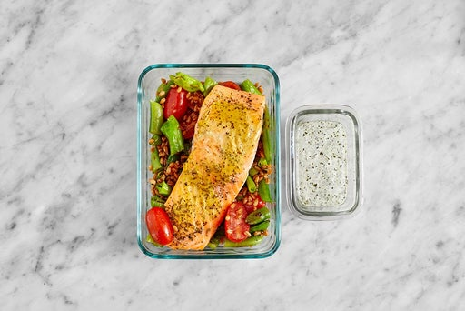 Assemble & Store the Dijon-Roasted Trout
