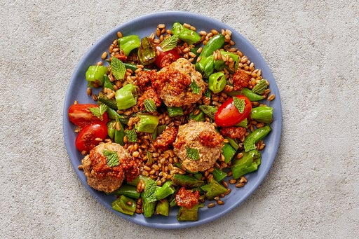 Finish & Serve the Romesco Turkey Meatballs