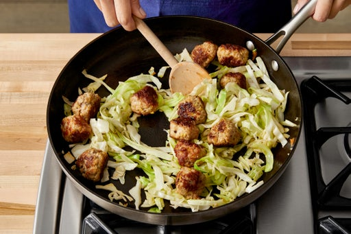 Add the cabbage: