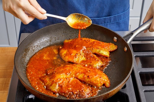 Cook & glaze the fish