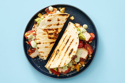 Finish & Serve the Ancho Chicken Tacos