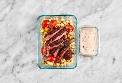 Assemble & Store the Pepper Ranch Steak
