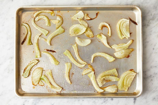 Prepare & roast the fennel: