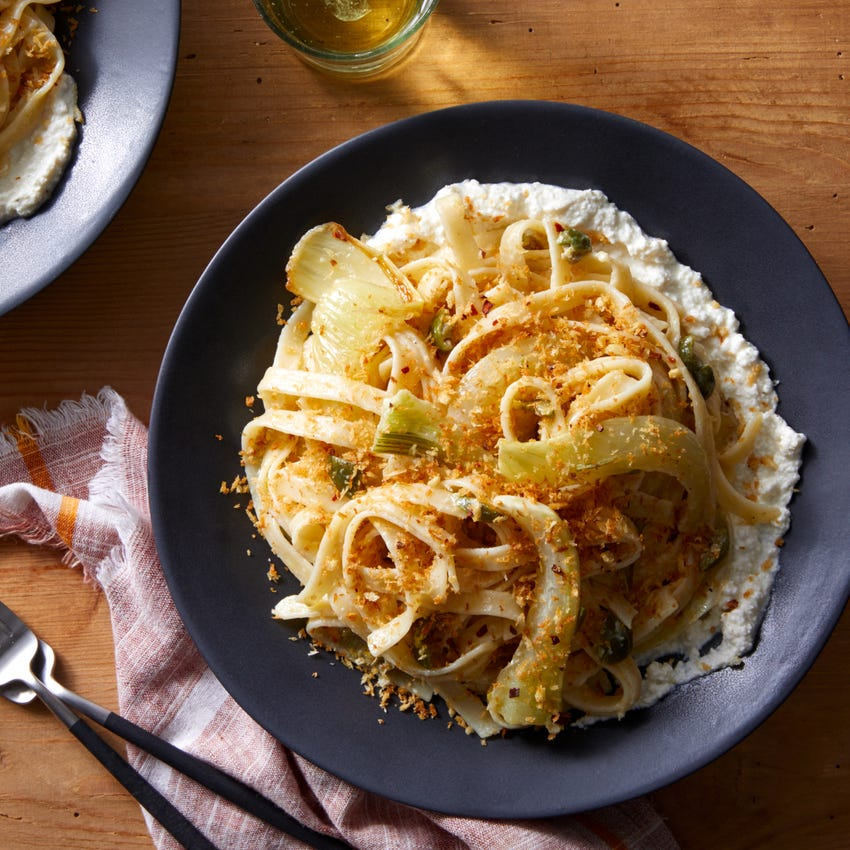 Fettuccine & Roasted Fennel with Whipped Ricotta & Garlic Breadcrumbs