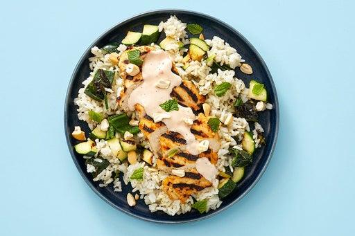 Finish & Serve the Mango Chutney Chicken & Cashews