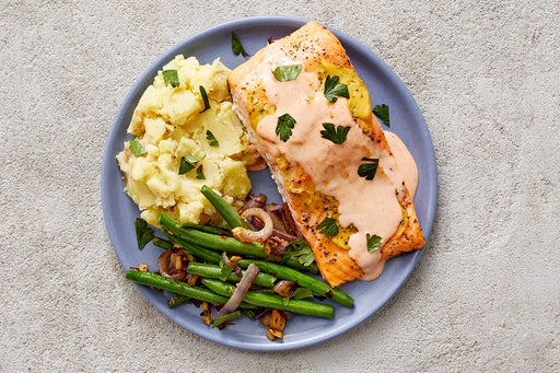 Finish & Serve the Steelhead Trout & Spicy Ranch