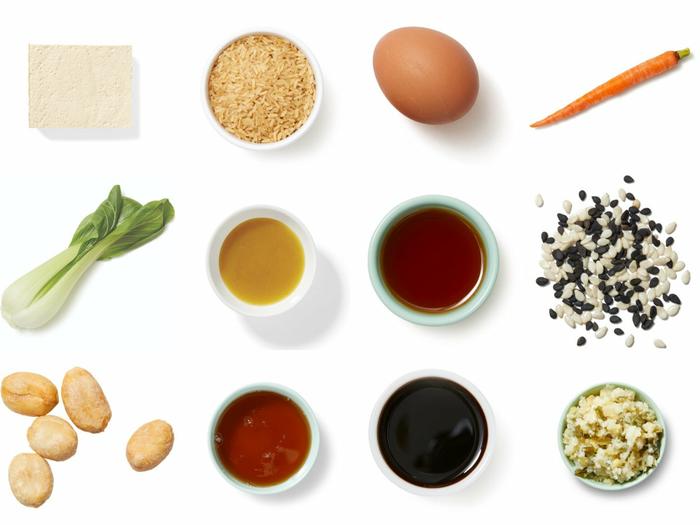 Yuzu & Maple-Glazed Tofu over Fried Brown Rice