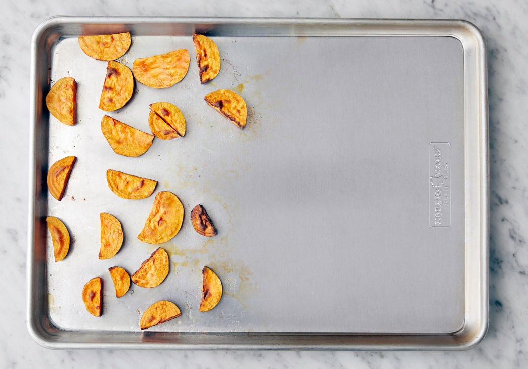 Start the sweet potatoes: