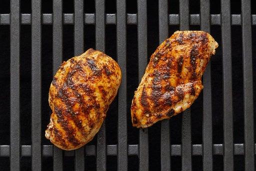 Grill & slice the chicken