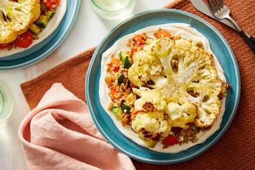 Roasted Cauliflower & Farro Salad with Tahini-Yogurt Sauce