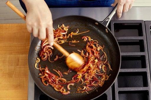 Cook & glaze the onion